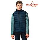 【hilltop山頂鳥】男款兩件式刷毛外套外搭保暖蓄熱羽絨背心F28M01藍/綠