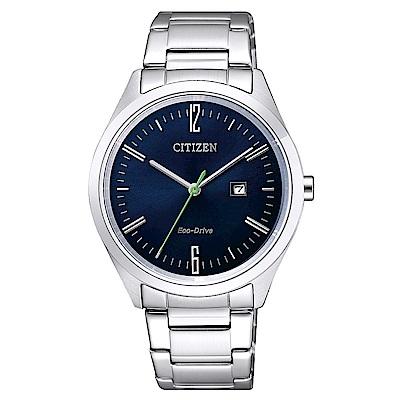 CITIZEN 星辰光動能知性時尚手錶(EW2450-84L)-藍X銀/34mm