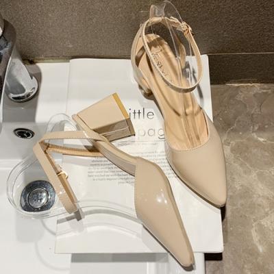 KEITH-WILL 時尚鞋館女神同款歐美主流質感小跟鞋-米白