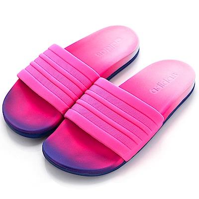 ADIDAS ADILETTE CF+ FADE 女拖鞋 CG3437 桃紅藍