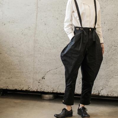 設計所在Style-日系個性原創自製圓弧褲腿休閒背帶褲