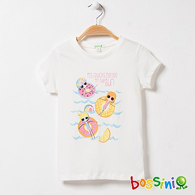 bossini女童-印花短袖T恤25珍珠白