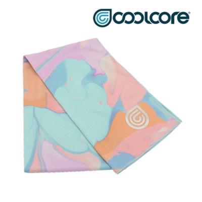 COOLCORE CHILL SPORT 涼感運動巾 大理石粉藍 MARBLE PRINT