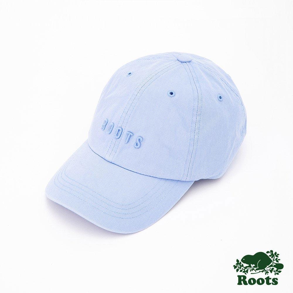 Roots配件- 經典刺繡棒球帽-藍