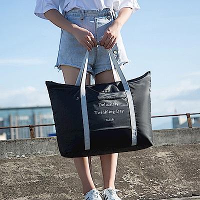 E.City_韓版超輕款旅行拉桿購物袋