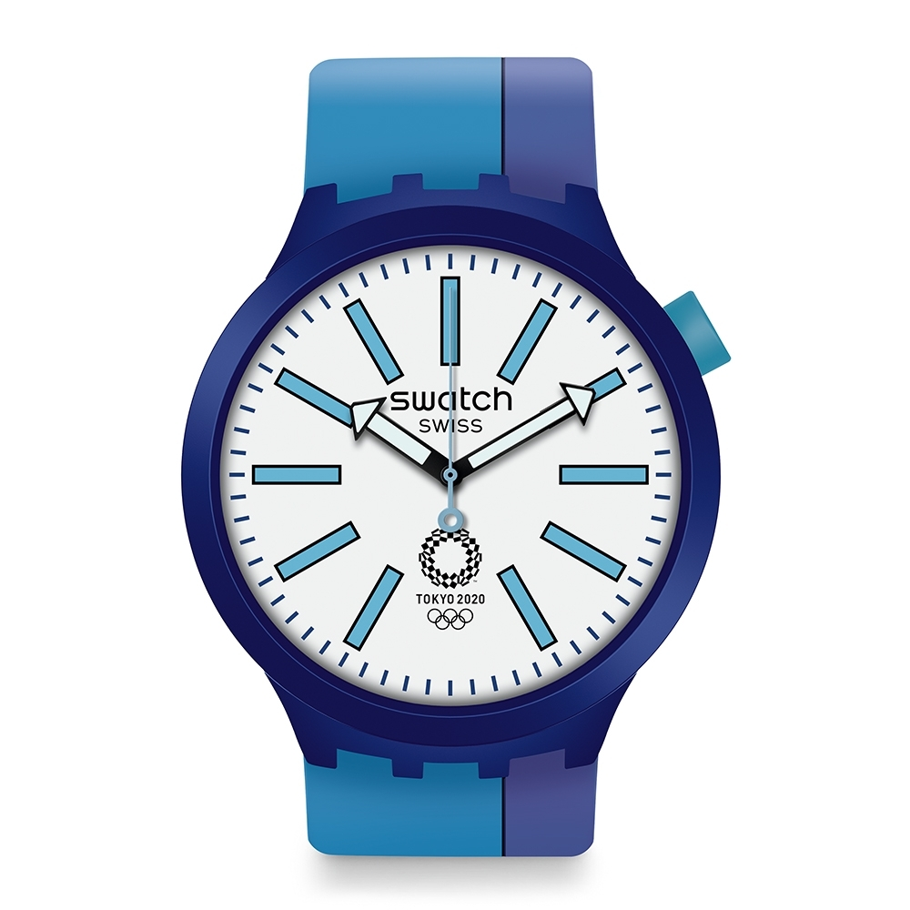 Swatch 奧運系列手錶 BB AI BLUE -47mm