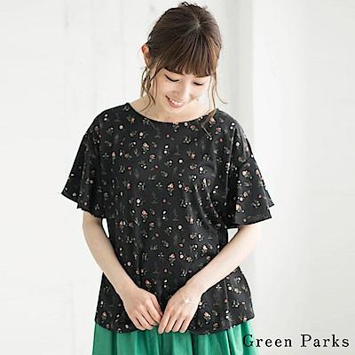 Green Parks 古典花卉喇叭袖圓領上衣