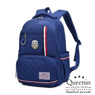 DF Queenin日韓 - 英倫學院風多隔層減壓後背包-共3色