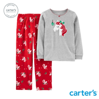 Carter s台灣總代理 聖誕獨角獸家居服2件組套裝