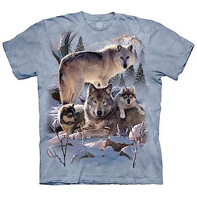 摩達客-美國進口The Mountain 雪狼家族 純棉環保藝術中性短袖T恤