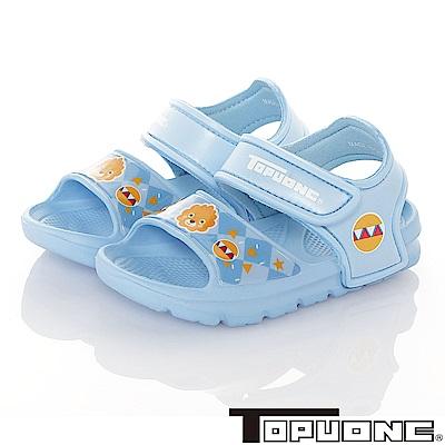 TOPUONE 極輕量軟Q彈性運動休閒涼鞋童鞋-水