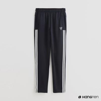 Hang Ten-童裝-側邊線條造型運動長褲-深藍