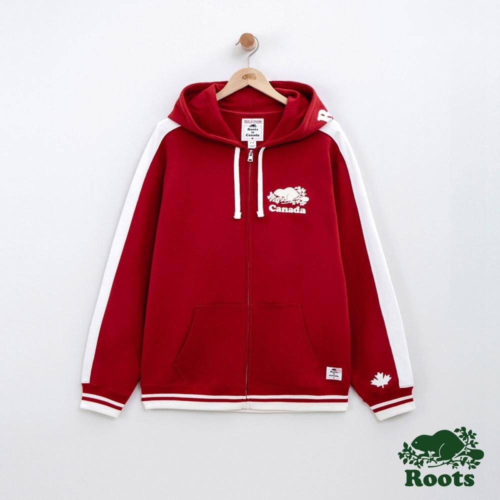 男裝Roots 加拿大系列連帽外套-紅色