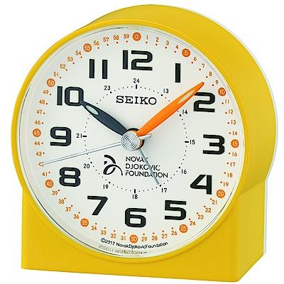 SEIKO 日本精工 滑動式秒針 靜音 小鬧鐘(QHE907Y)-黃/8.2X7.8cm
