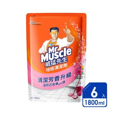 威猛先生 地板清潔劑1800ml完美花香(6入/箱)