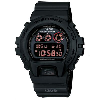 G-SHOCK 赤血方剛之傳說運動數位錶(DW-6900MS-1)-圓款