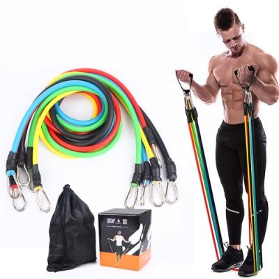 【JIELIEN】健身拉力繩11件組 彈力繩