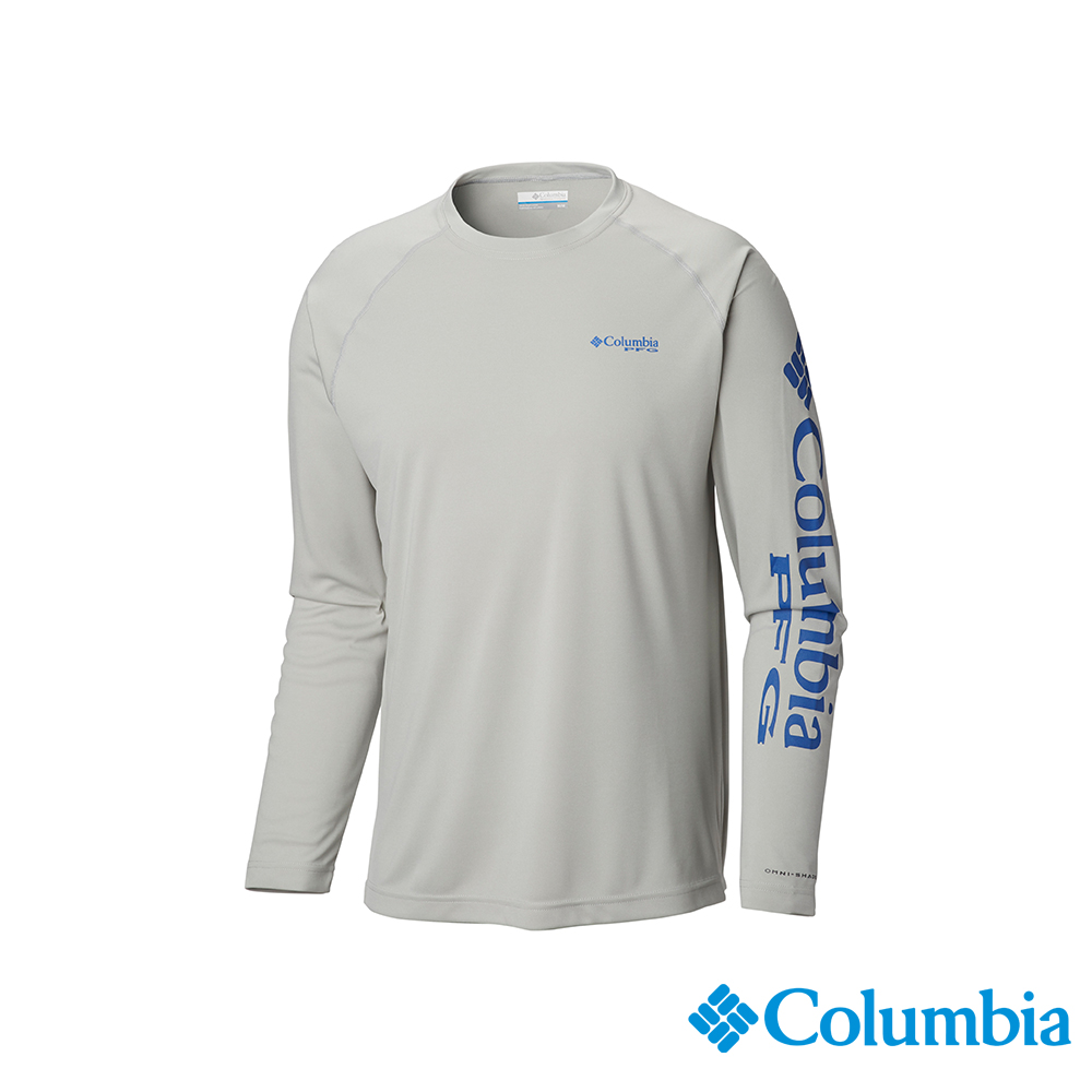 Columbia哥倫比亞男款-UPF50快排長袖上衣-灰色 UFO10900GY