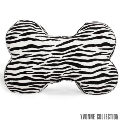 Yvonne Collection 斑馬紋大骨頭抱枕-黑