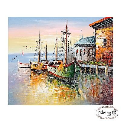 御畫房 手繪無框油畫-夕陽無限 50x60cm