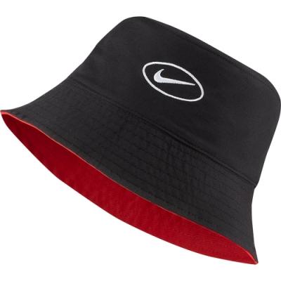 NIKE 漁夫帽 雙面 遮陽帽  男女 黑紅 CI3616011 W NSW BUCKET SWOOSH CAP