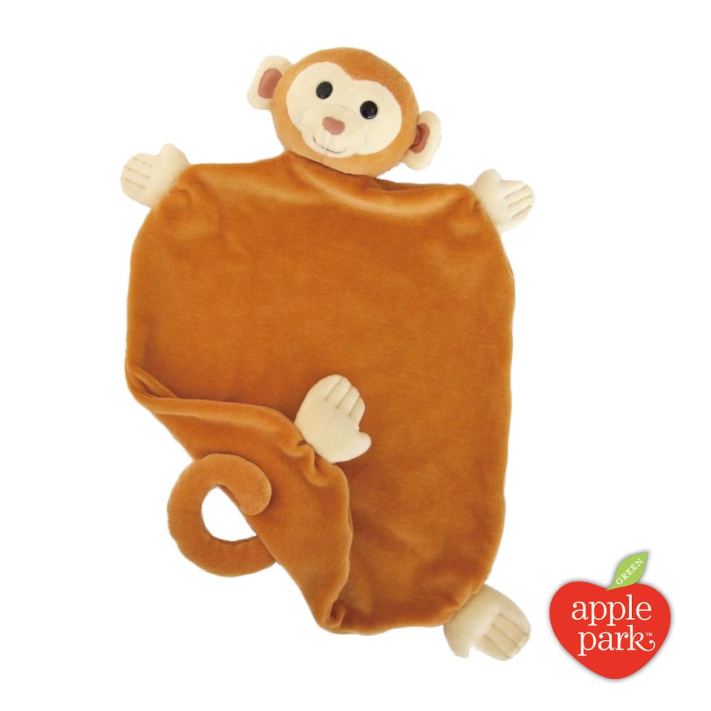 【美國 Apple Park】有機棉安撫巾彌月禮盒 - 小猴子