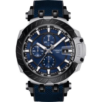 TISSOT 天梭 T-RACE 計時機械錶-藍/45mm