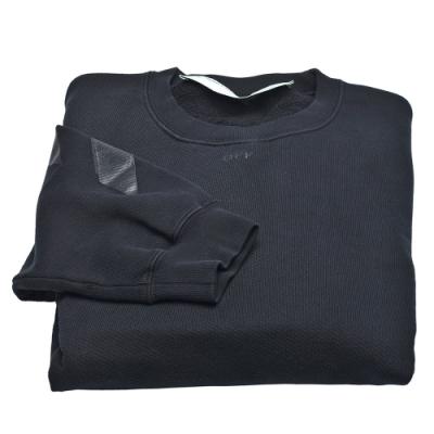 OFF-WHITE 箭頭指示圖案棉質長袖厚版T恤(黑)