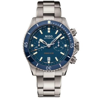 MIDO美度 Ocean Star 海洋之星陶瓷計時機械錶-44mm  M0266274404100