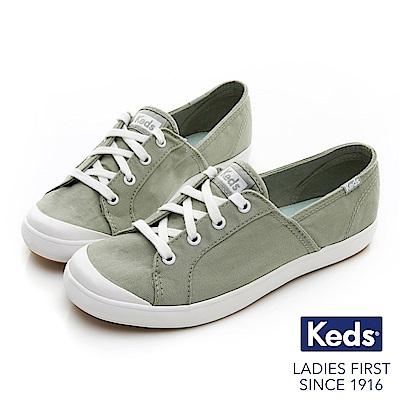 Keds SANDY 復古綁帶休閒鞋-綠色