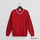 Hang Ten - 男裝 - 有機棉 - V領細針織上衣 - 紅