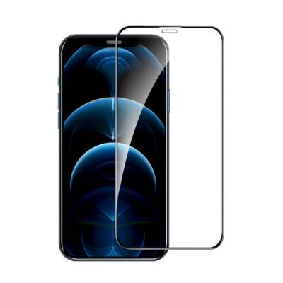 IN7 iPhone 12 Pro Max (6.7吋) 高清 高透光2.5D滿版9H鋼化玻璃保護貼 疏油疏水 鋼化膜-黑色