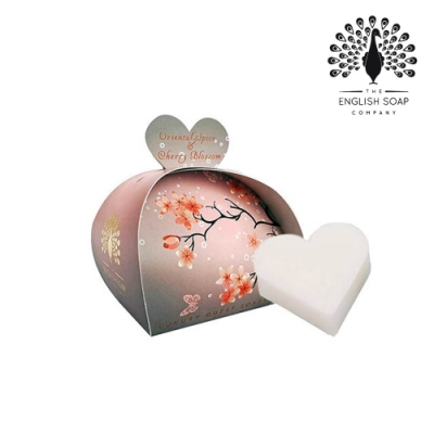 The English Soap Company 乳木果油植萃香氛皂-櫻花 Oriental Spice and Cherry Blossom 60g