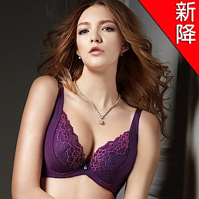 可蘭霓Clany   性感革命珍珠水美人ABC內衣 華麗紫