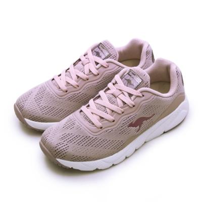 KangaROOS 輕量編織幻彩反光慢跑鞋 RUN SWIFT粉芋紫 91093