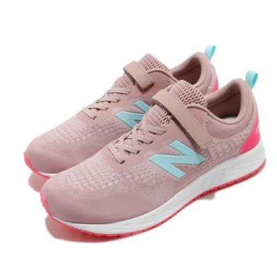 New Balance 慢跑鞋 Fresh Foam 寬楦 運動 童鞋 紐巴倫 輕量 透氣 舒適 中大童 球鞋 粉 白 YAARIIS3W