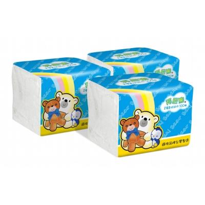 Benibear邦尼熊單抽式柔拭紙巾300抽*72包/箱