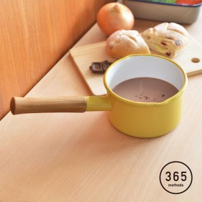 日本365methods 單柄琺瑯牛奶鍋(1.2L)-14cm
