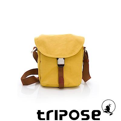 tripose MEMENTO系列微皺尼龍輕量防潑水郵差包 黃