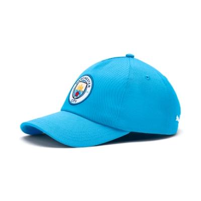 PUMA-男女Manchester City棒球帽-車隊淺藍