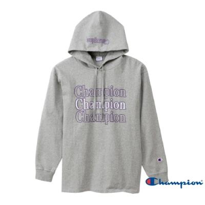 Champion Campus Logo連帽Tee(灰色)