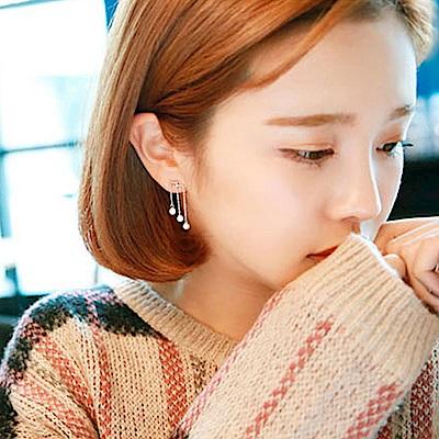 梨花HaNA 無耳洞韓國我的秘密飯店珍珠流蘇耳環夾式