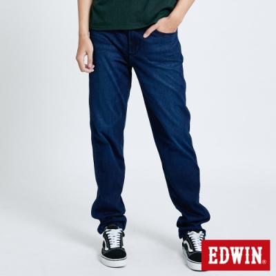 EDWIN JERSEYS 迦績 EJ6 側條棉感AB牛仔褲-男-石洗綠