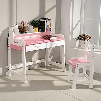 LOGIS創造力彩色實木書桌椅 小學生桌椅 閱讀繪畫 學生書桌 實木桌
