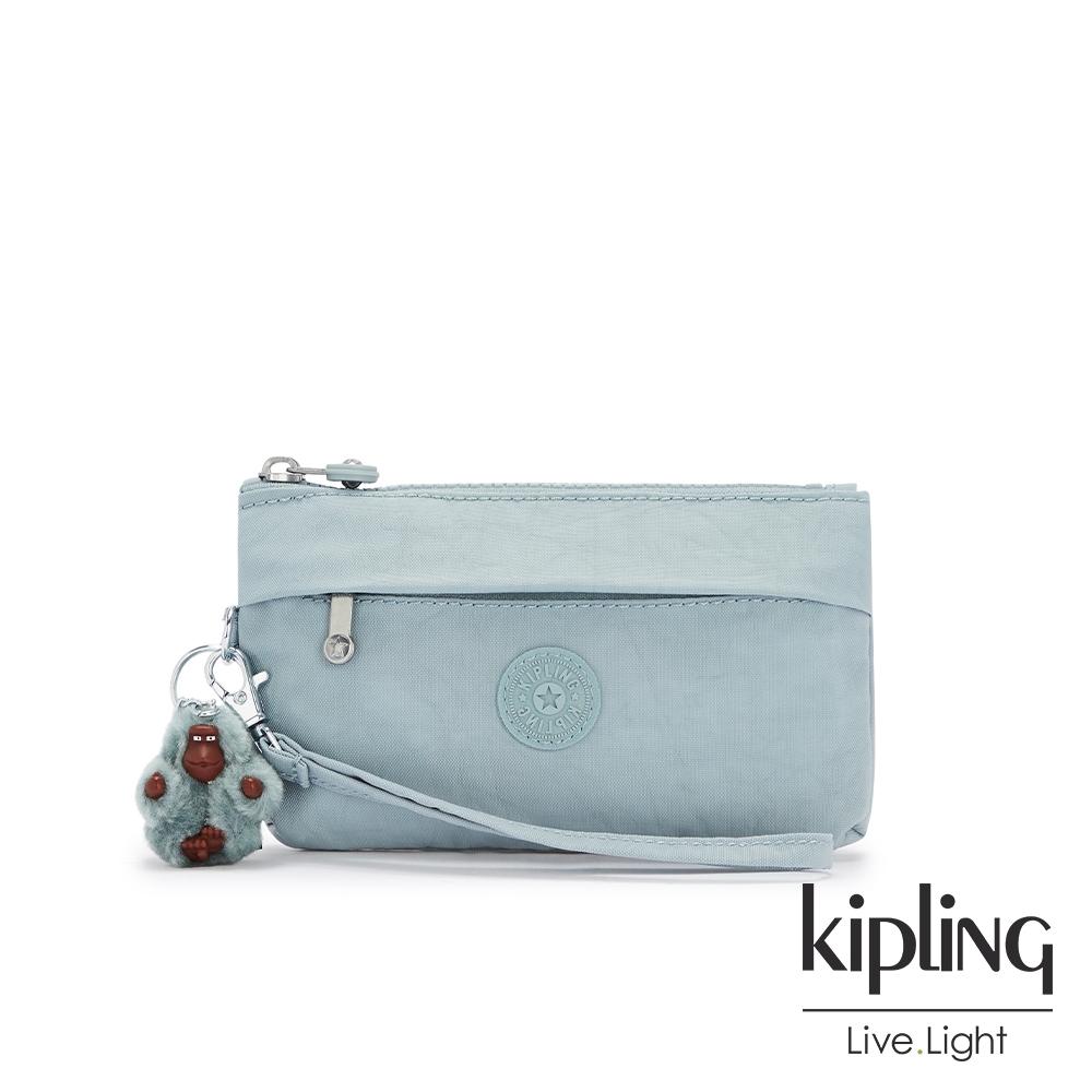 Kipling 歡樂繽紛藍手拿配件包-NIYLAH