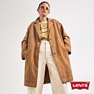 Levis 女款 長版卡奇鋪棉大衣 春夏形象款
