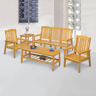 MUNA 單面本色組椅(整組)  162X72X91cm