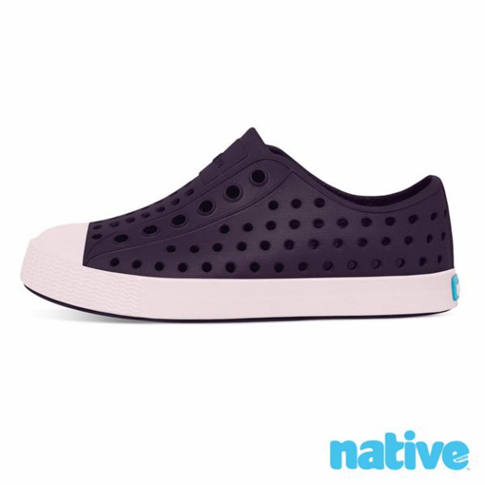 native JEFFERSON 小童鞋-深紫x牛奶粉