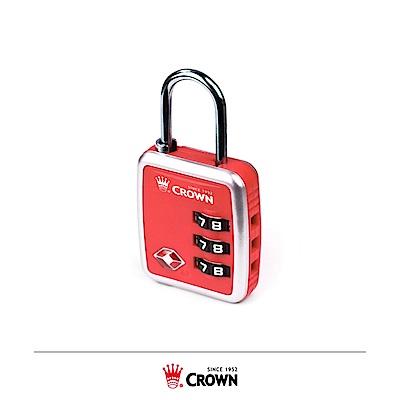 CROWN 皇冠 美國TSA海關密碼鎖 扣鎖 紅