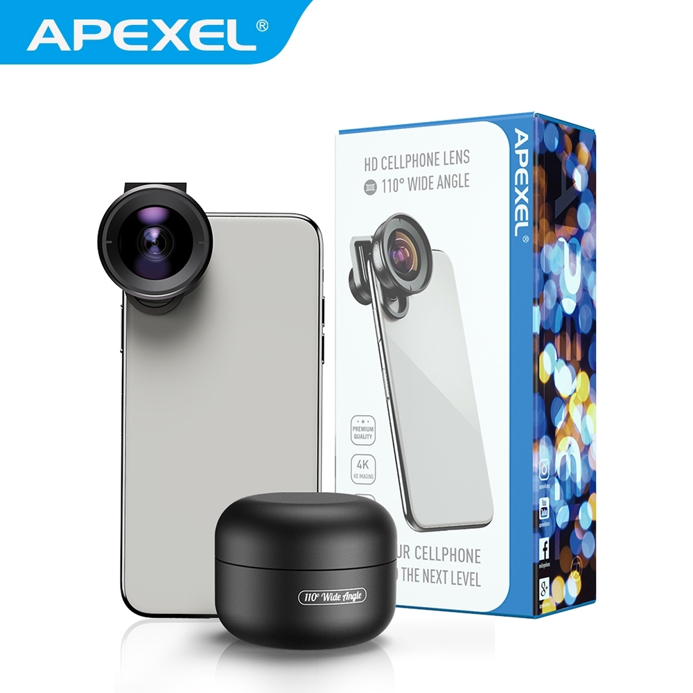 【APEXEL】110度廣角手機專用鏡頭(APL-HD5W)
